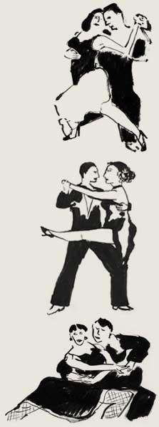 Video's bij Tango Amsterdam, tangosalon De Plantage en Arjan & Marianne