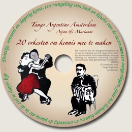 CD 20 tango orkesten - uitgave: Tango Argentino Amsterdam