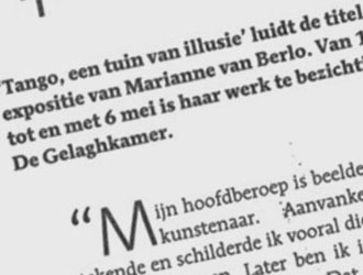 Marianne van Berlo - articles