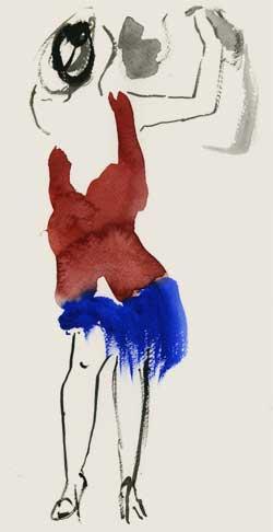 tangopaar - aquarel - Marianne van Berlo